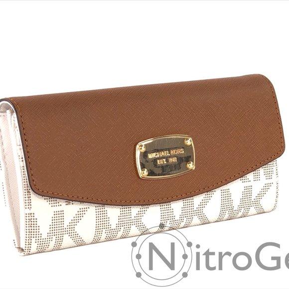 Michael Kors Jet Set Slim Flap Wallet Brand New